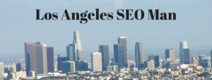 Los Angeles skyline where the Los Angeles SEO Man ranks clients websites.